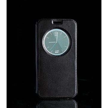 YIKADENG Round Window Display Smart View Flip PU Leather Case For Samsung S6 Edge