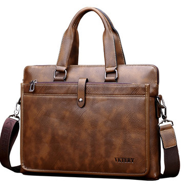 Vintage Business Laptop Bag Handbag Corssbody Bag for Men