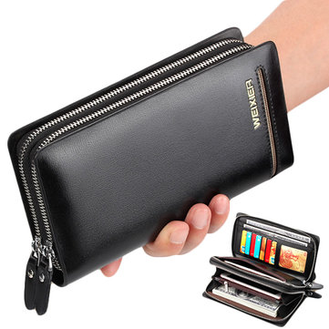 Vintage Zipper Larger Capacity 6 inch Phone Wallet