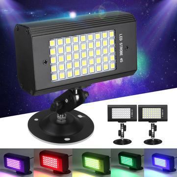 23W 45 LED RGB /白い光は、DJクラブKTV AC100-240VのためのサウンドアクティブStroboflashステージライト