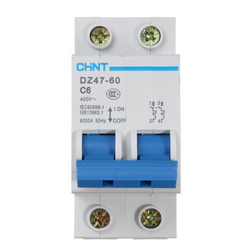CHNT Miniature Residual Current Circuit Breaker AC400V 50Hz 6000A 2P 6A~40A