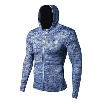 Men's Leisure Running Fitness Sports T-shirts Speed Dry Long Sleeves Basketball Training Suits