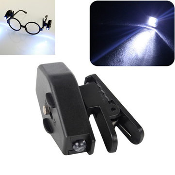 Mini Flashlight LED Eyeglass Clip On Adjustable Book Light Portable Universal Reading Night Lamp