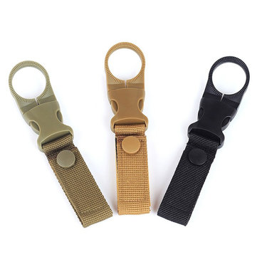 AWMN R1 Gear Clip Nylon Camouflage Outdoor Camping Mountaineering Buckle Water Bottle Carrier Holder Keychain Tactical Belt