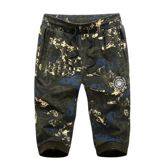 Men's Outdoor Camo Loose Cropped Trousers