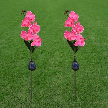 Solar Power 5 LED Flower Light Outdoor Garden Yard Lawn Landscape Lamp Decor