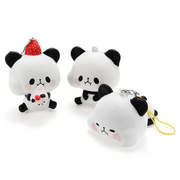 Squishy Panda 8cm Draag Slow Rising Met Verpakking Collection Gift Decof Speelgoed Telefoon Bag Strap