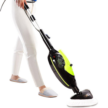 SKG KB-2012 Steam Clean Mop Carpet Cleaning Machine Steam Cleaners Tools Non-Chemical Mircofiber Replacement Pads Powerful