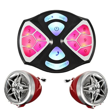 12V ATV Motorcycle MP3 Player FM Speaker Alarm System Waterproof with Bluetooth Function