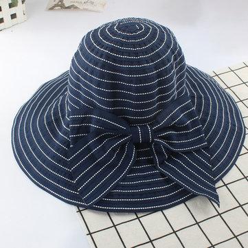 Women Summer Sun Protection Floppy Hat Outdoor Flat Bill Hat