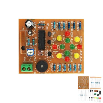 DIY CD4060 Music LED Light Kit Electronic Training DC 3V-5V