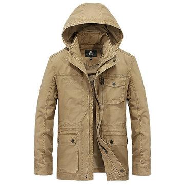 MensGrootMaatStijlvolCasualHooded Outdoor Katoen Jacket