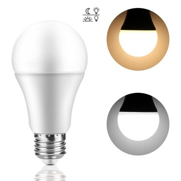 AC85-265V 7W E27 Dusk to Dawn Auto ON/OFF LED Sensor Globe Light Bulb for Home Porch Hallway