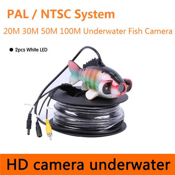 CR-006J PAL NTSC Under Water Camera for Fishing Fish Finder Waterproof HD Camera 20M to 100M Cable