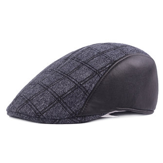 Kepsar Patchwork Newsboy Cabbie Golf Gentleman Cap