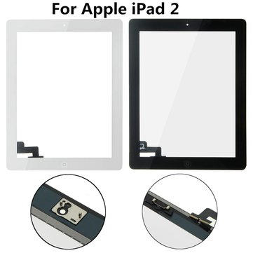 Touch Screen Digitizer Glass Replacement With Buttons For iPad 2