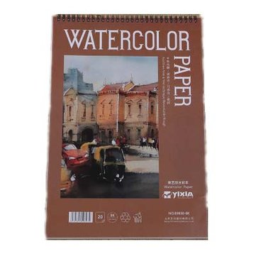 Yixin 8K Line Ring Watercolor Coarse-Grain Fashion Creative Pure Wood Pulp 300 Gram Watercolor Painting Paper