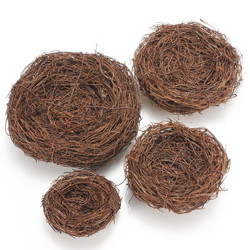 Handmade Vine Brown Twig Bird Nest House Home Nature Craft Holiday Prop Decor