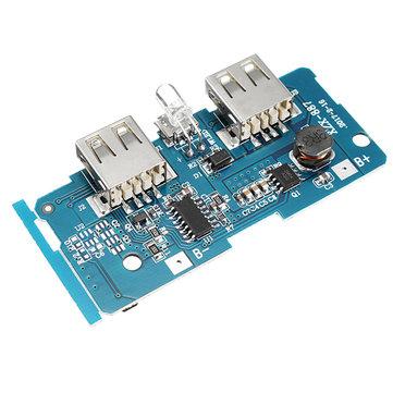 3.7V için 5V 1A 2A Arttırma Modülü DIY Güç Bankası Ana Kart Dahili Devre 18650 Lityum Batarya Koruma IC Çift USB Çıkışı Aşırı akım Aşırı gerilim Altında Gerilim Koruması