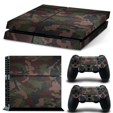 Skin Stickers For Play Station 4 PS4 Console and 2 Controllers Decal Cover Decor