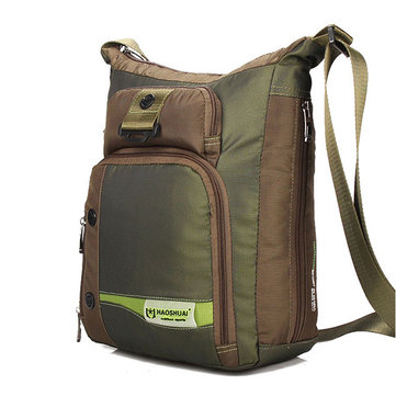 Men Nylon Casual Sport Outdoor Green Black Computer Shoulder Crossbody Bag