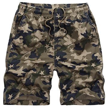 CamouflageOutdoorShortsenvracSummer Hommes élastique taille Casual Quick Dry Shorts