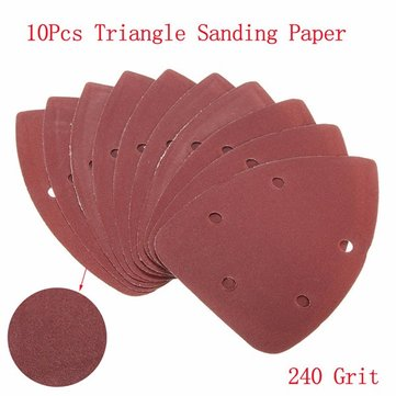 10pcs 140x100mm 240 Grit Mouse Sanding Sheets Triangle Sandpaper Sander Pads