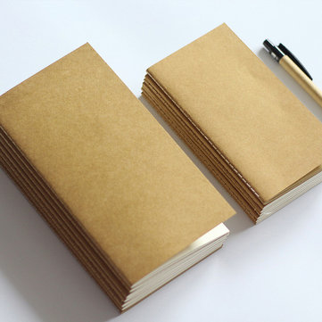 Pocket Size Kraft Paper Notebook Blank Dot Grid Notepad Diary Monthly Planner Organizer Filler Paper