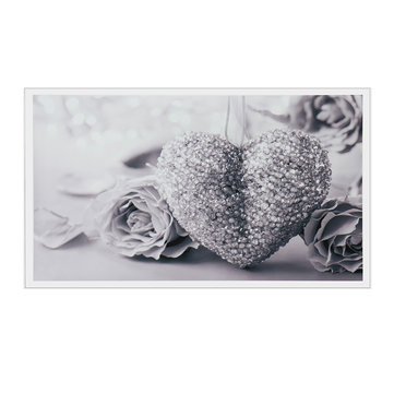 45x80cm Grey Heart Rose Canvas Wall Art Frameless Paintings Pictures Home Decor