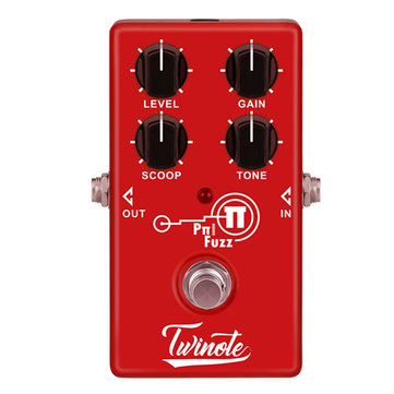 Twinote Pπ FUZZ Modern FUZZ Electric Guitar Effects Pedal True Bypass Low Noise