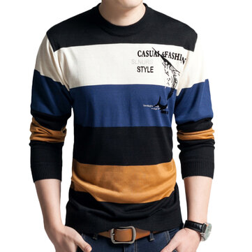 Men's Fashion Breathable Pullover Color Block Casual Tops