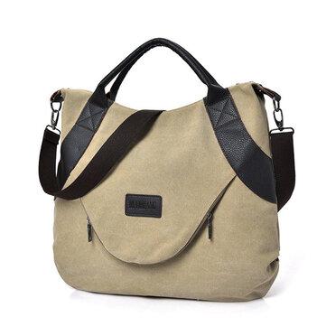 Women Canvas Casual Shopping Handbag Large Capacity Shoulder Bag