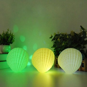 Creative 3W Colorful Shell LED Night Light Wireless Rechargeable Bluetooth Speaker Music Home Decor