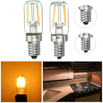 Dimmable E12/E14 1W Mini COB LED Refrigerator Fridge Freezer Filament Light Bulb