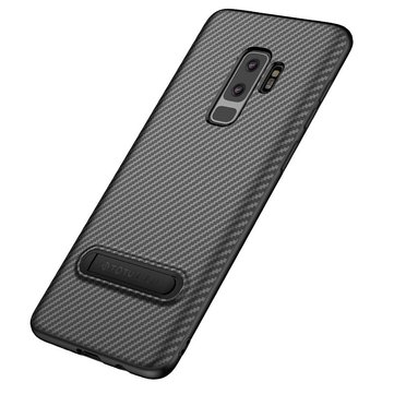Totu Carbon Fiber Kickstand Protective Case For Samsung Galaxy S9/S9 Plus