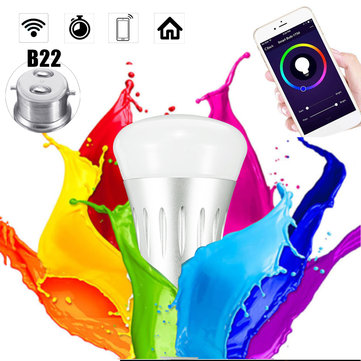 B22 11W RGBW Wifi App Control LED Smart Light Bulb Work With Echo Alexa Google Home AC85-265V
