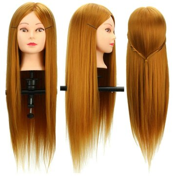 30% Real Human Long Hairdressing Cut Mannequin Hair Training Head Salon