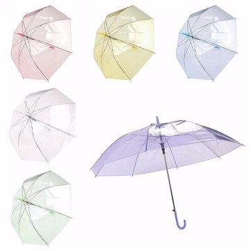 Colorful Transparent Automatic Rain Umbrella Dome Wedding Party Favor Waterproof Umbrella