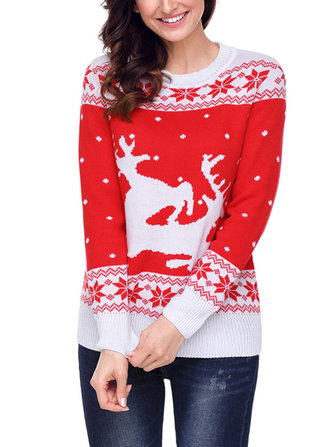 Christmas Women Elk Pattern Sweater