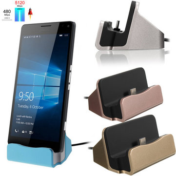 Type-C Dock Charger Charging Sync Desktop USB 3.1 Cradle Station For Smartphones