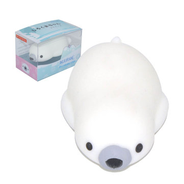 IKUURANI Polar Bear Mochi Squishy Squeeze 7.5x4x2cm Original Packaging Collection Gift Decor Toy