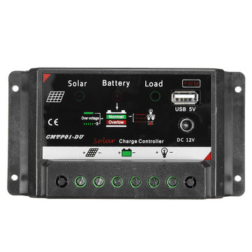 10/20A LED Auto PWM Solar Panel Battery Regulator Charge Controller DC12V Output