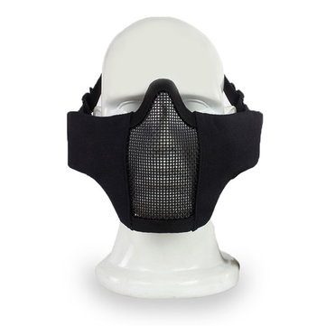 Tactical Half Face Mask Wire Steel Net Mesh Airsoft Paintball Hunting Protective Breathable Mask