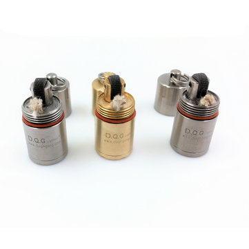 DQG Lighter 2.0 Stainless Steel/Brass/Titanium Super Mini Lighter Case (Flashlight Accessories)