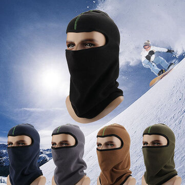 Men's Winter Fleece Earmuffs Ski Face Mask Hats Scarf