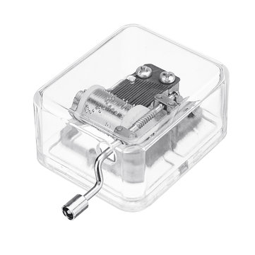 DIY 18 Tone Crystal Mini Hand Music Box With Case