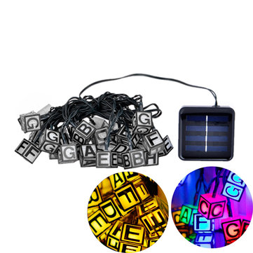 Solar Powered 30 LED ICE Cube Letter String Light for Christmas Garden Patio Wedding Party Decor