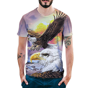 Summer Creative Digital Eagle 3D T-Shirts