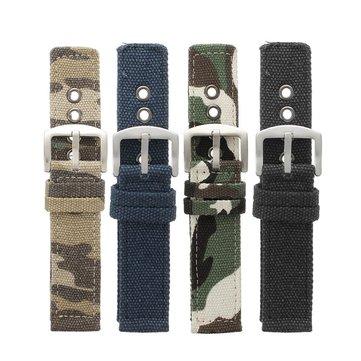 Bracelet de montre de camouflage militaire en toile de sport de 22 mm Bande