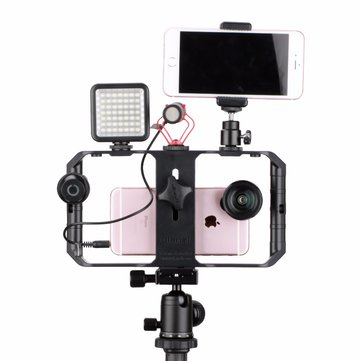Ulanzi U-Rig Pro Smartphone Video Rig Filmmaking Case Handheld Stabilizer Grip with 3 Shoe Mount